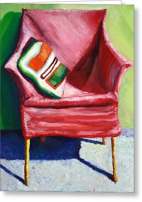 Chair Greeting Card by Aletha Keogh