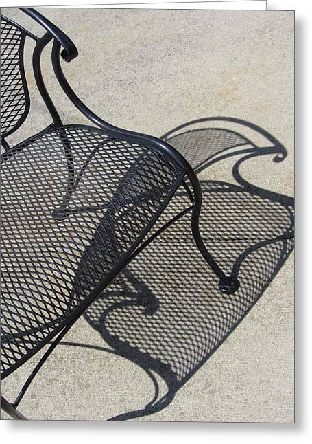 Chair And Shadow 4 Greeting Card by Anita Burgermeister