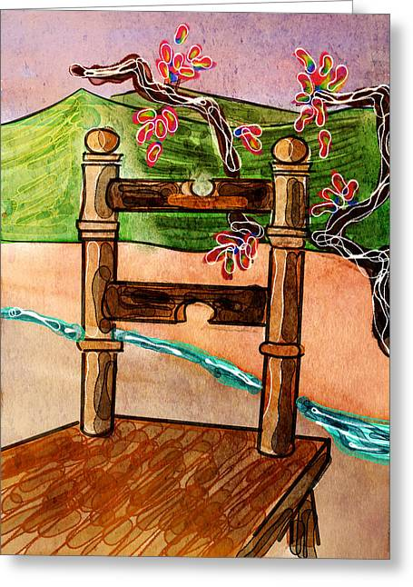 Chair In Landscape Greeting Card