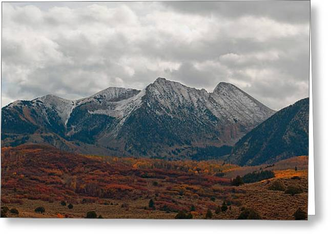 Greeting Card featuring the photograph Chair Mountain  by Eric Rundle