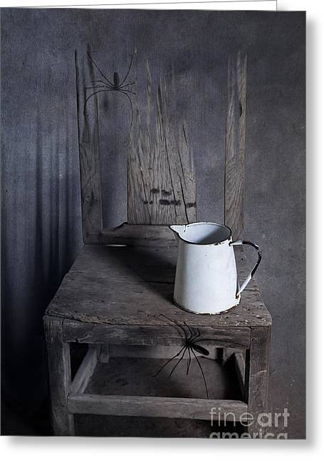 Chair Of Horror Greeting Card by Svetlana Sewell