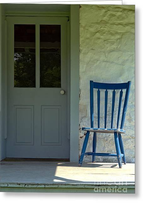 Chair On Farmhouse Porch Greeting Card