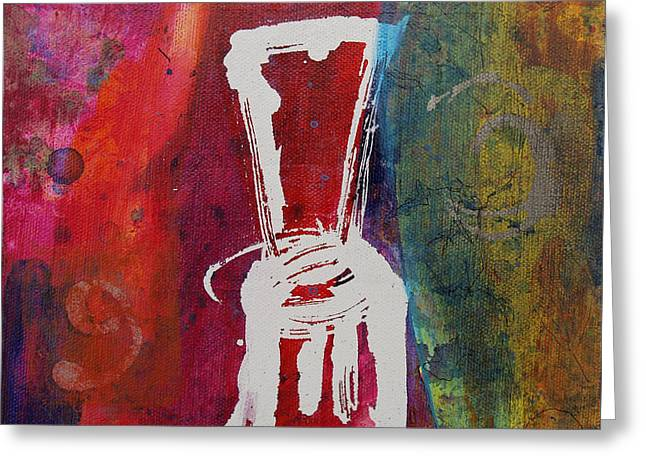Greeting Card featuring the painting Chair by Robin Maria Pedrero