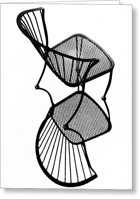 Chair Silhouette Greeting Card by Christopher McKenzie