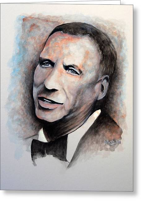Chairman Of The Board - Sinatra Greeting Card by William Walts