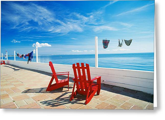 Chairs Cape Cod Ma Greeting Card