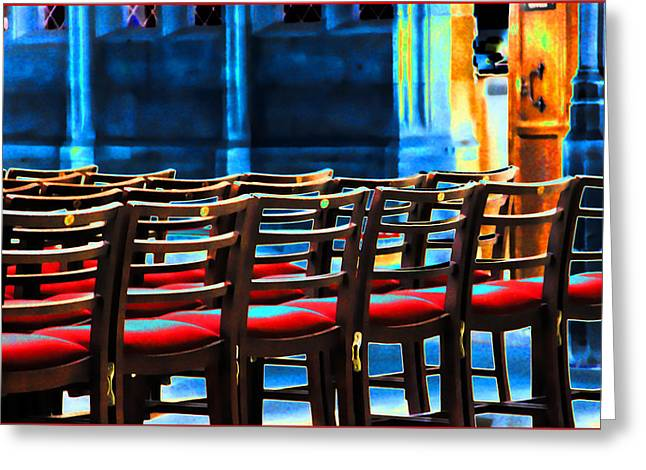 Chairs In Church Greeting Card
