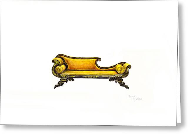 Chaise  Greeting Card by Jazmin Angeles