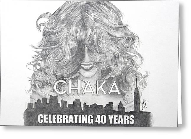 Chaka 40 Years Greeting Card