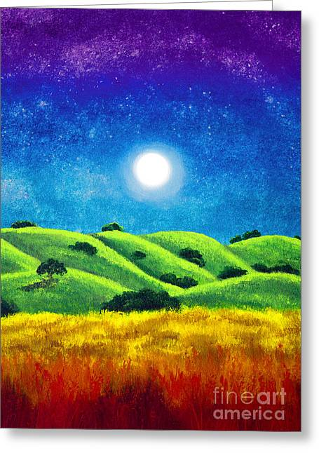 Chakra Landscape Greeting Card by Laura Iverson
