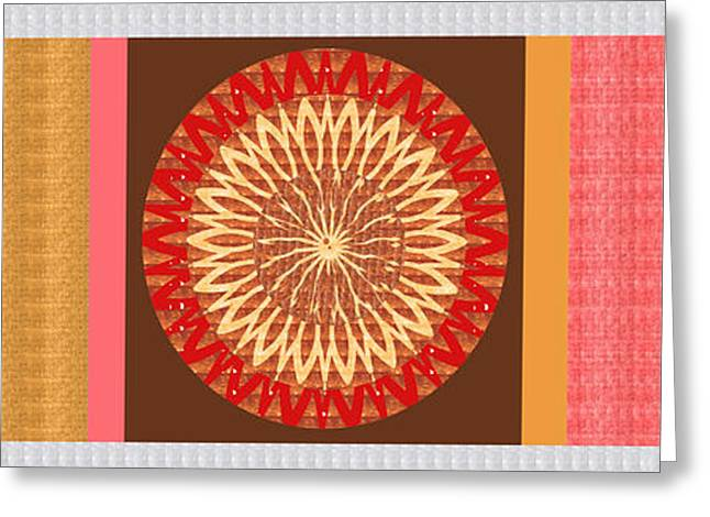 Chakra Mandala With Crystal Stone Healing Energy Plates By Side  Navinjoshi Rights Managed Images Fo Greeting Card by Navin Joshi