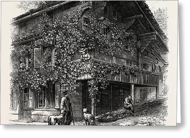 Chalet At Brienz, Bernese Oberland, Berner Oberland Greeting Card