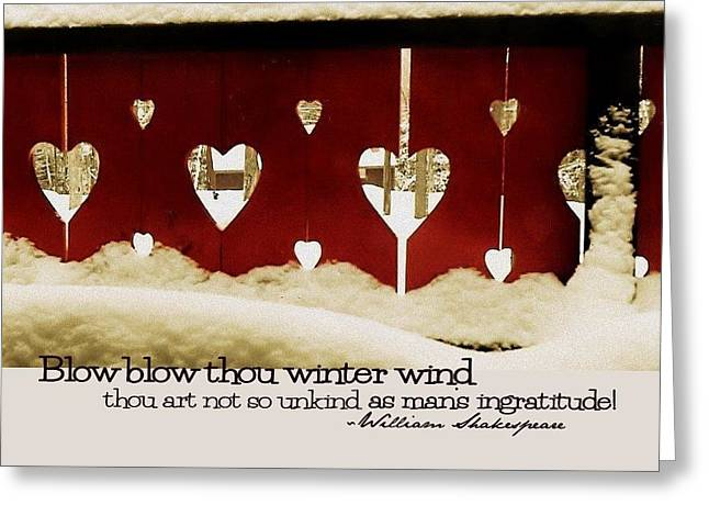 Chalet De Coeur Quote Greeting Card by JAMART Photography