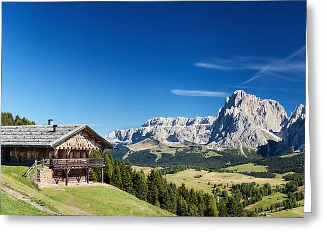 Greeting Card featuring the photograph Chalet In South Tyrol by Carsten Reisinger