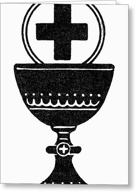Chalice And Cross Greeting Card by Granger