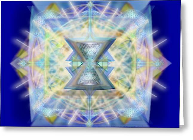 Chalicell Matrix Rainbow Cross Of Light Greeting Card
