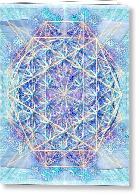 Chalicell Torq And Blue Vortex F O L Octagon Greeting Card