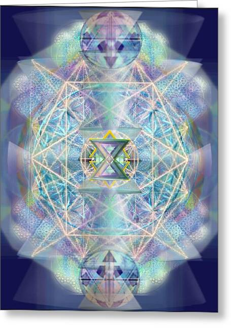Chalicells Electric Sparkling Vortices Of Light II Greeting Card