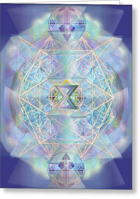 Chalicells Electro Dynamic Vortices Of Light Greeting Card