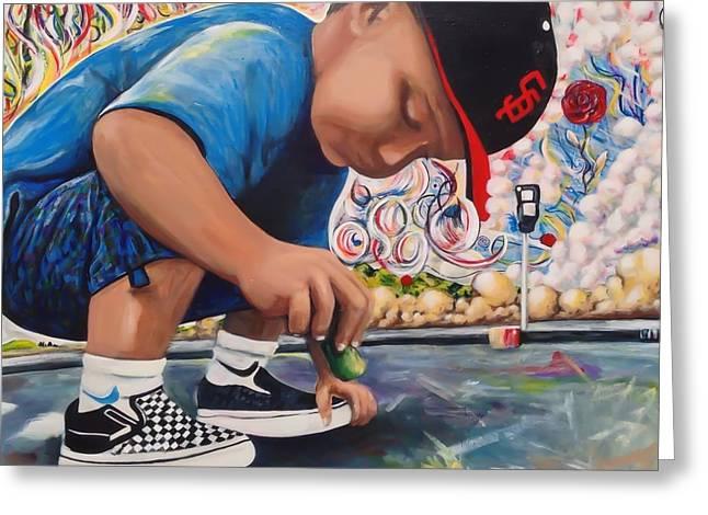 Chalk Art Creations Greeting Card by Randy Segura