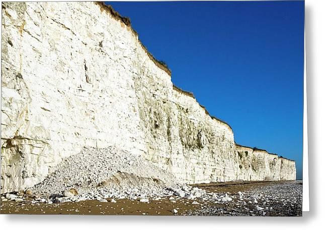 Chalk Cliffs Greeting Card by Carlos Dominguez