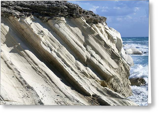 Chalk Cliffs, Cyprus Greeting Card by Science Photo Library