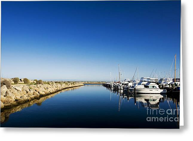 Challenger Harbour Of Fremantle Greeting Card