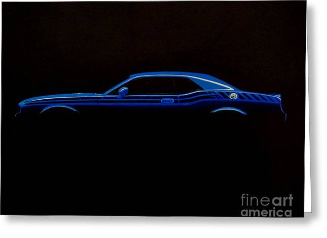 Challenger Silhouette Greeting Card by Paul Kuras