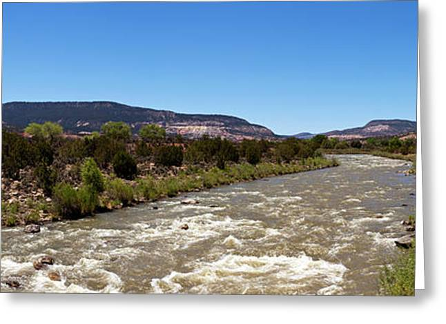 Chama River A Major Tributary River Greeting Card by Panoramic Images