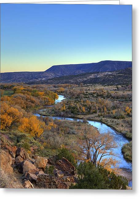 Chama River At Sunset Greeting Card