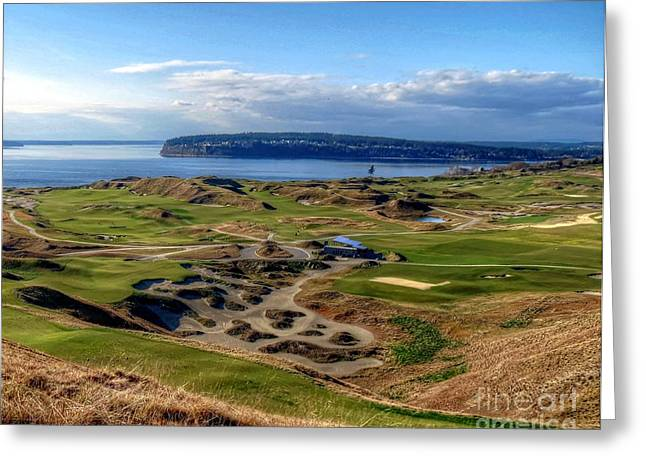 Chambers Bay View 2013 Cropped Greeting Card by Chris Anderson