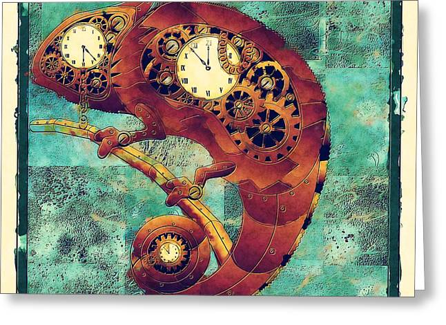 Chameleon - Aff01a Greeting Card by Variance Collections