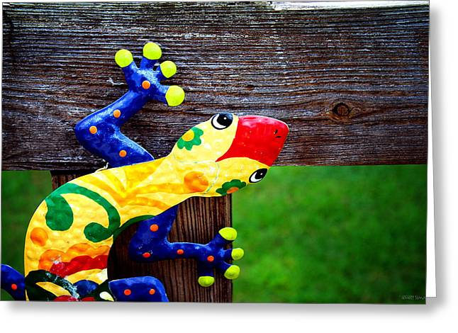 Chameleon Greeting Card by Greg Simmons