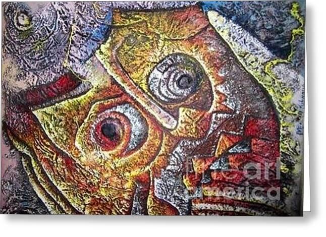 Chameleon Skin  Greeting Card by Masoud Kibwana