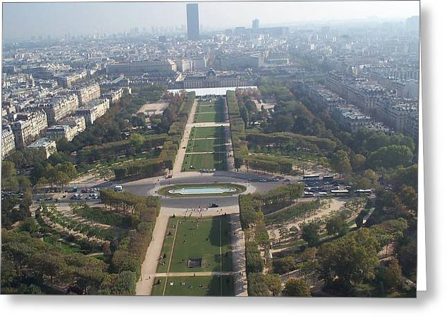 Greeting Card featuring the photograph Champ De Mars by Barbara McDevitt