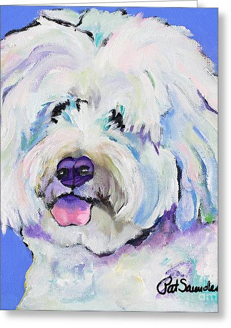 Champ Greeting Card by Pat Saunders-White