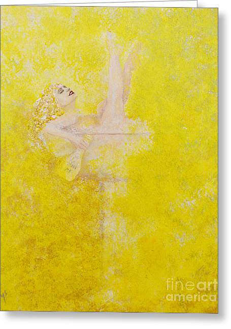 Champagne Lady Greeting Card by Alys Caviness-Gober