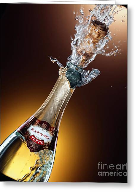 Champagne Greeting Card by Mel Lindstrom
