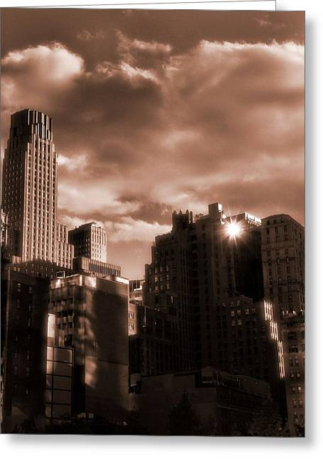 Champagne New York City Greeting Card