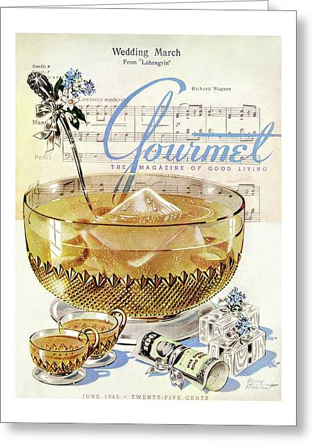 Champagne Punch And The Wedding March Greeting Card
