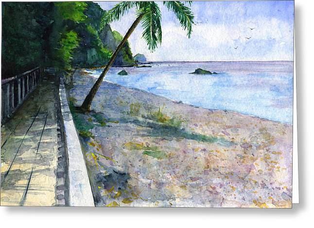 Champagne Snorkel Dominica Greeting Card by John D Benson