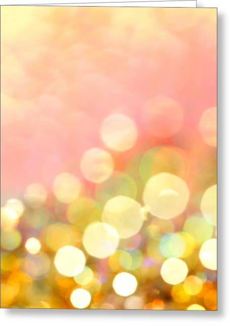 Champagne Supernova Greeting Card by Dazzle Zazz