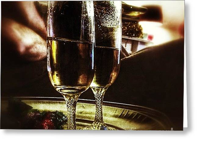 Champers 'hic' #christmas Greeting Card