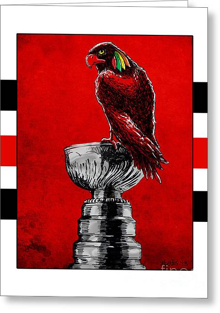 Champion Blackhawks Greeting Card