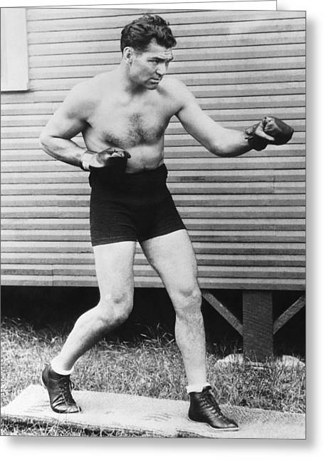 Champion Boxer Jack Dempsey Greeting Card by Underwood Archives