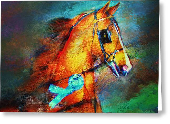 Champion's Headshot Greeting Card by Judy Robichaux