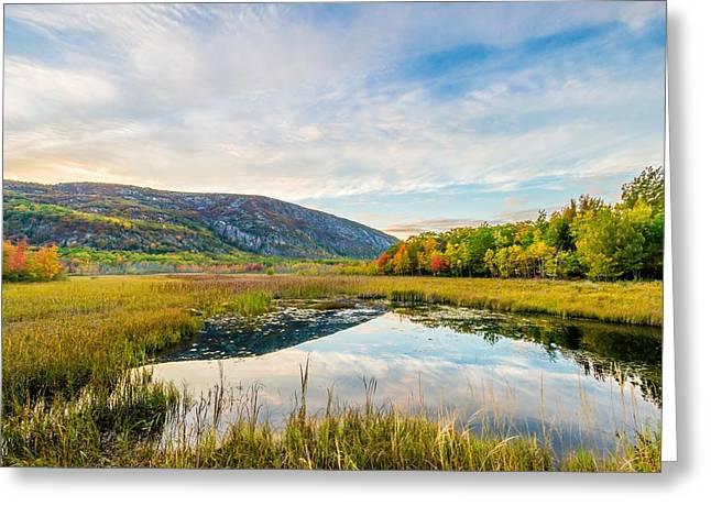 Champlain Mountain Sunset Greeting Card