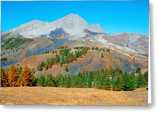 Champs Pass In Autumn, French Riviera Greeting Card by Panoramic Images
