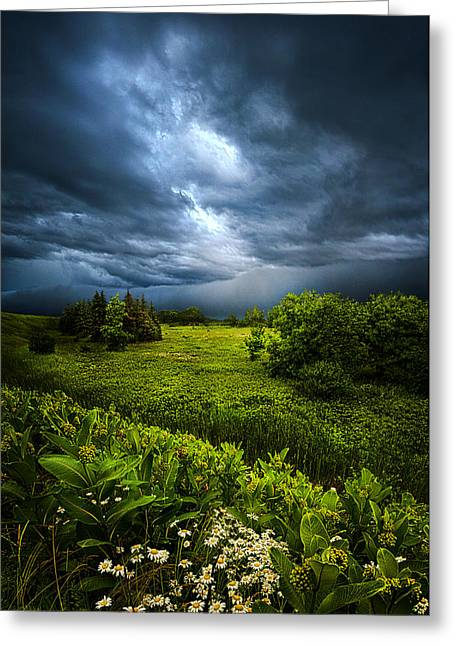 Chance Of Rain Greeting Card by Phil Koch