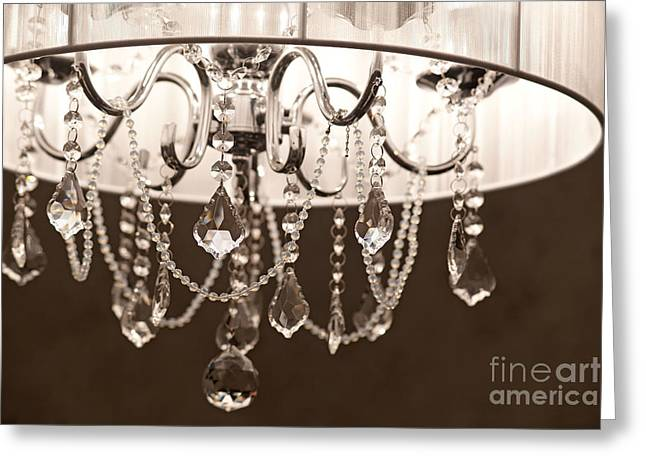Greeting Card featuring the photograph Chandelier by Aiolos Greek Collections